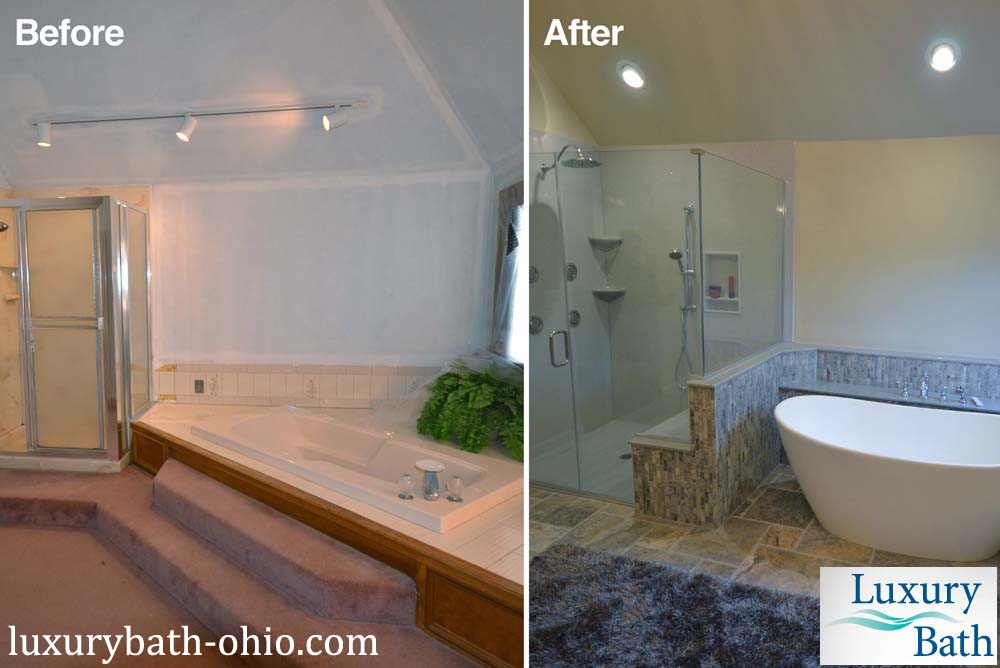Columbus Ohio bathroom remodel before and after picture