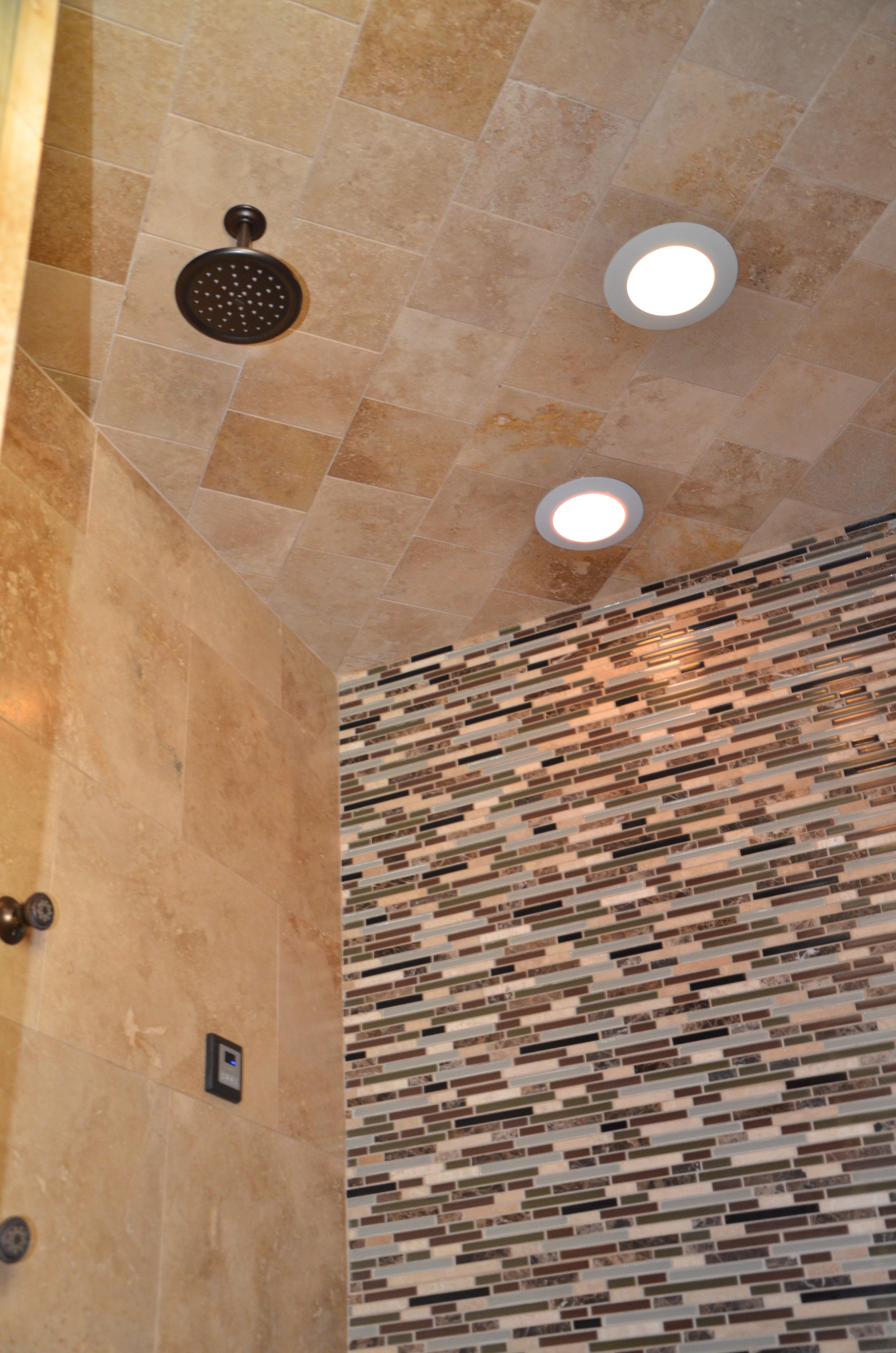 tiled ceiling