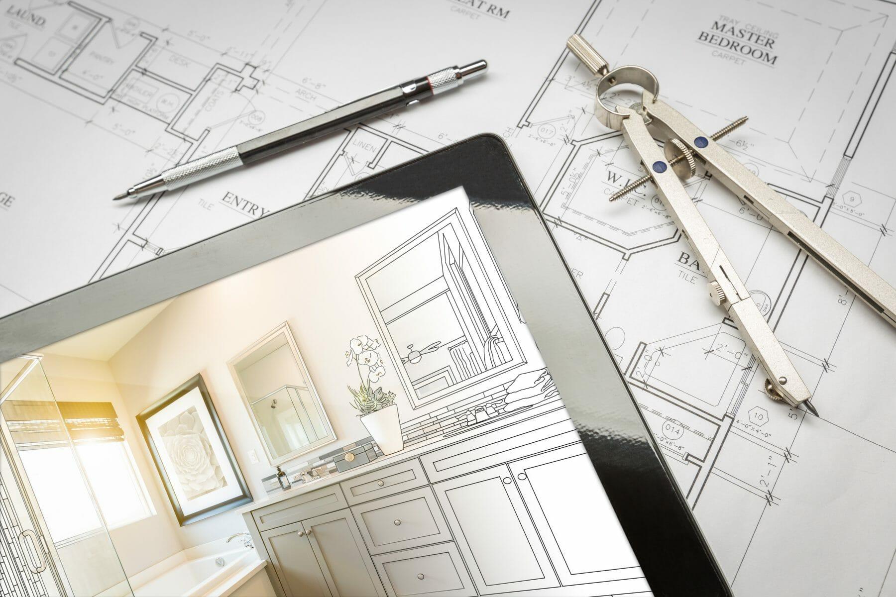 Remodeling plan on iPad